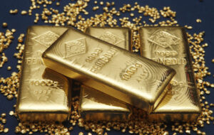 a47bcffe6e35e587e3ea943d8247b974 300x190 - Gold bars and granules are pictured at the Austrian Gold and Silver Separating Plant 'Oegussa' in Vienna