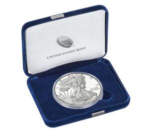 Moneta Amerikanskij orjol serebro 300x263 - Монета Американский орёл серебро