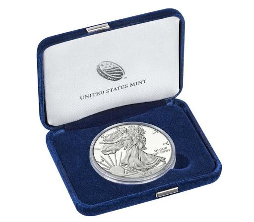 Moneta Amerikanskij orjol serebro - Монетный двор США продал 1 млн. унций серебра за один день