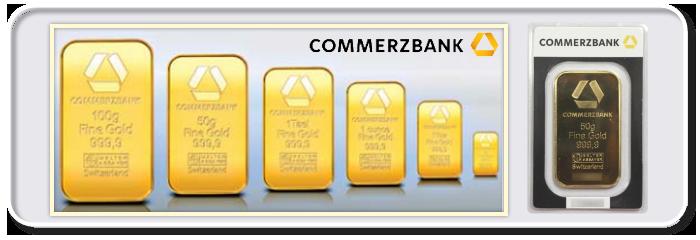 Shtampovanye slitki Commerzbank - Commerzbank