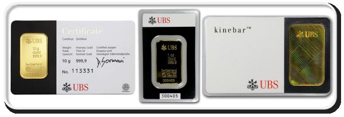 shtampovanye slitki UBS - UBS
