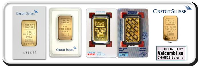 vneshnij vid shtampavanyh slitkov Credit Suisse - Credit Suisse