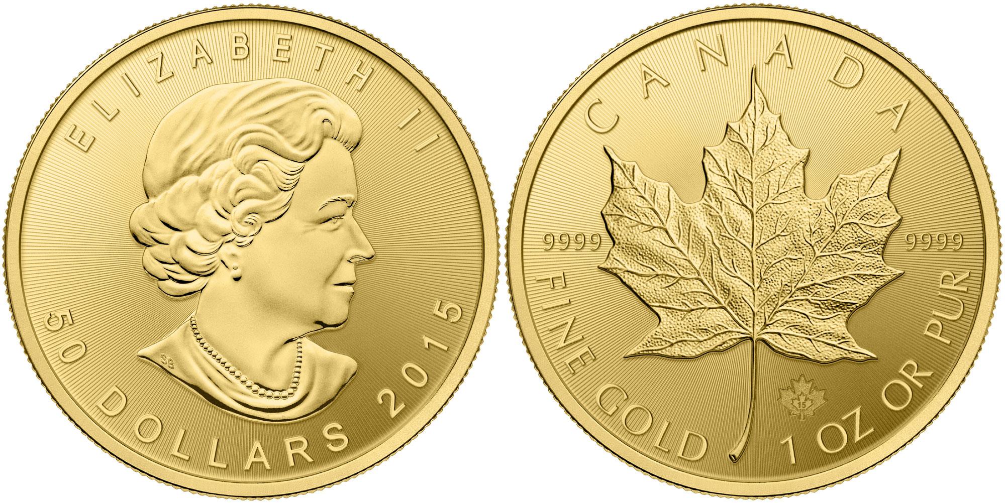 Kanadskij klenovyj list moneta - Канадский кленовый лист