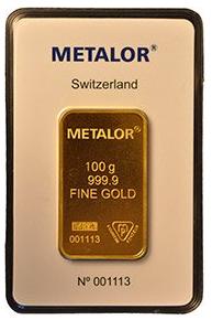 metalor swizerland fine gold 100 g - metalor swizerland fine gold 100 g