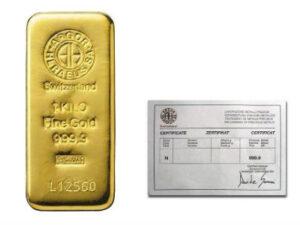 1 kilogram argor heraeus gold bar 300x225 - Купить слиток золота за криптовалюту